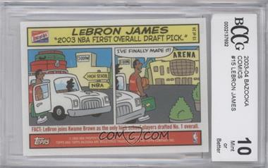 2003-04 Bazooka Comic Strip #15 - Lebron James [ENCASED]