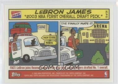2003-04 Bazooka Comic Strip #15 - Lebron James