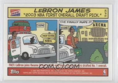 2003-04 Bazooka Comic Strip #15 - Lebron James