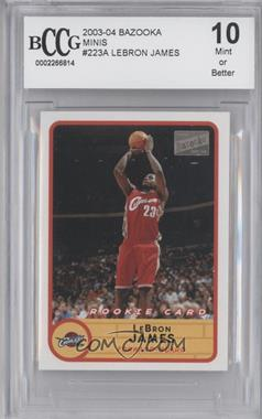 2003-04 Bazooka Mini #223.2 - Lebron James (road jersey) [ENCASED]