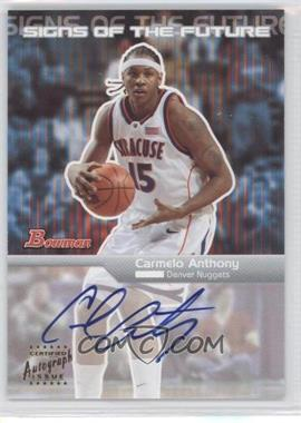 2003-04 Bowman - Signs of the Future - [Autographed] #SFA-CA - Carmelo Anthony