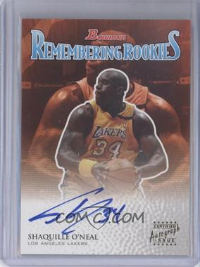 2003-04 Bowman Remembering Rookies Certified Autograph [Autographed] #RR-SO - Shaquille O'Neal