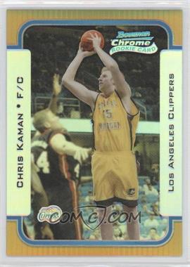 2003-04 Bowman Rookies & Stars Chrome Gold Refractor #121 - Chris Kaman /50