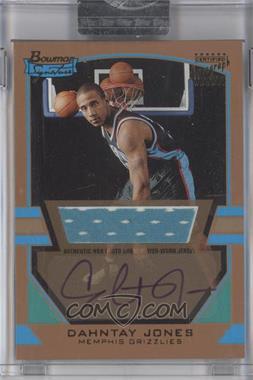 2003-04 Bowman Signature Gold #84 - Dahntay Jones /99