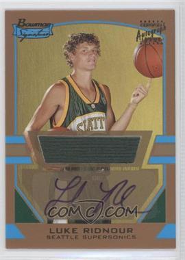2003-04 Bowman Signature Gold #85 - Luke Ridnour /99