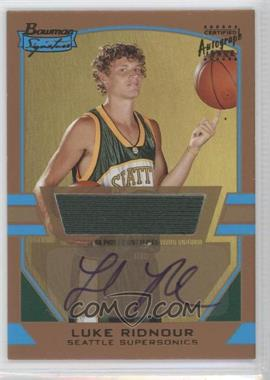 2003-04 Bowman Signature Gold #85 - Luke Ridnour /99