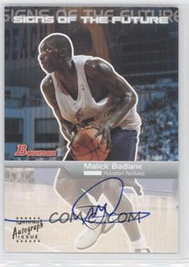2003-04 Bowman Signs of the Future [Autographed] #SFA-MBA - Malick Badiane