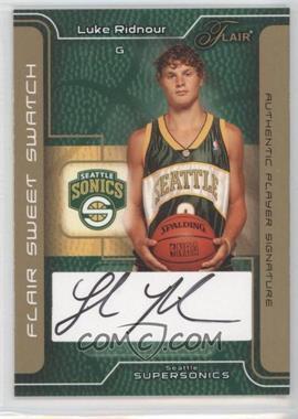 2003-04 Flair - Sweet Swatch - Gold Autographs [Autographed] #SSA-LR - Luke Ridnour /25