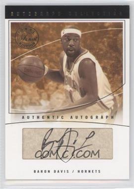 2003-04 Flair Final Edition - Autograph Collection - Parchment [Autographed] #AC-BD - Baron Davis /25