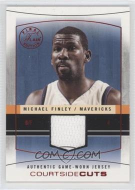 2003-04 Flair Final Edition - Courtside Cuts Jerseys - Red #CC-MF - Michael Finley /175