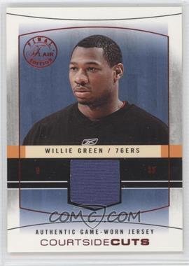 2003-04 Flair Final Edition - Courtside Cuts Jerseys - Red #CC-WG - Willie Green /175