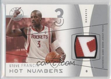 2003-04 Flair Final Edition - Hot Numbers Jerseys - Silver Patch #HN-SF - Steve Francis /50