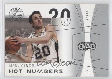 2003-04 Flair Final Edition - Hot Numbers #5 HN - Manu Ginobili /500