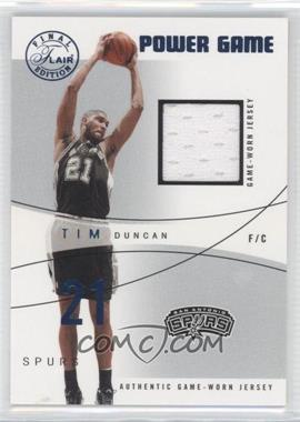 2003-04 Flair Final Edition - Power Game Jerseys - Blue #PG-TD - Tim Duncan /250