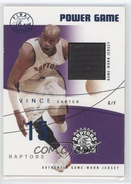 2003-04 Flair Final Edition - Power Game Jerseys - Blue #PG-VC - Vince Carter /250