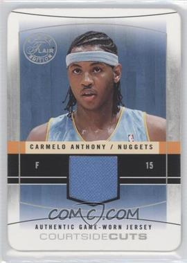2003-04 Flair Final Edition Courtside Cuts Jerseys Pewter Die-Cut #CC-CA - Carmelo Anthony /13