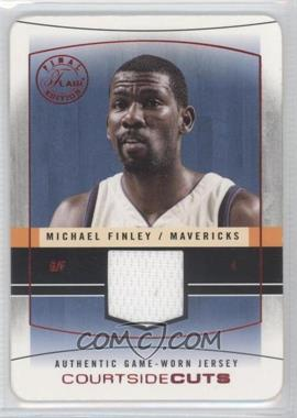 2003-04 Flair Final Edition Courtside Cuts Jerseys Red Die-Cut #CC-MF - Michael Finley /18