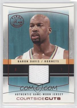 2003-04 Flair Final Edition Courtside Cuts Jerseys Red #CC-BD - Baron Davis /175