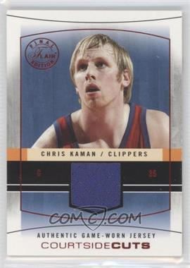 2003-04 Flair Final Edition Courtside Cuts Jerseys Red #CC-CK - Chris Kaman /175