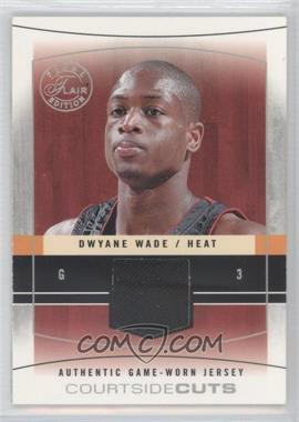 2003-04 Flair Final Edition Courtside Cuts Jerseys Red #CC-DWW - Dwyane Wade /175