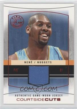 2003-04 Flair Final Edition Courtside Cuts Jerseys Red #CC-N - Nene /175