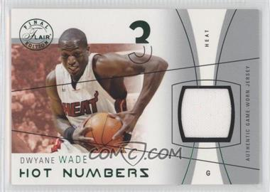 2003-04 Flair Final Edition Hot Numbers Jerseys Green #HN-DW - Dwyane Wade