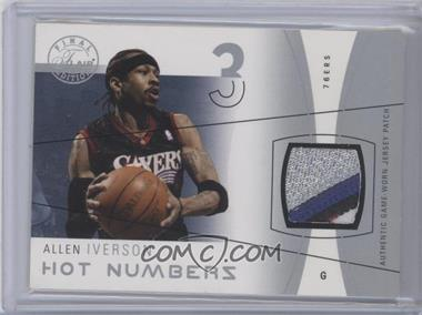 2003-04 Flair Final Edition Hot Numbers Jerseys Silver Patch #HN-AI - Allen Iverson /50
