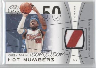 2003-04 Flair Final Edition Hot Numbers Jerseys Silver Patch #HN-CM - Corey Maggette /50