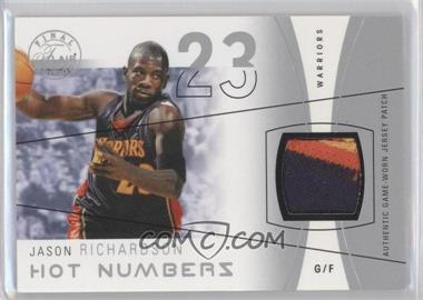 2003-04 Flair Final Edition Hot Numbers Jerseys Silver Patch #HN-JR - Jason Richardson /50
