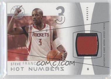 2003-04 Flair Final Edition Hot Numbers Jerseys Silver Patch #HN-SF - Steve Francis /50
