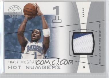2003-04 Flair Final Edition Hot Numbers Jerseys Silver Patch #HN-TM - Tracy McGrady /50
