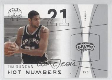 2003-04 Flair Final Edition Hot Numbers #29 HN - Tim Duncan /500