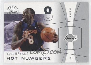 2003-04 Flair Final Edition Hot Numbers #33 HN - Kobe Bryant /500