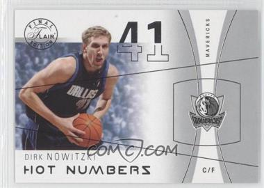 2003-04 Flair Final Edition Hot Numbers #7 HN - Dirk Nowitzki /500