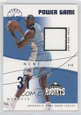 2003-04 Flair Final Edition Power Game Jerseys Blue #31PG- - Nenê /250