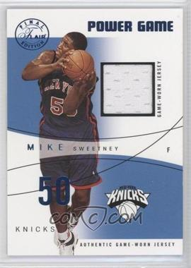 2003-04 Flair Final Edition Power Game Jerseys Blue #PG-MS - Mike Sweetney /250