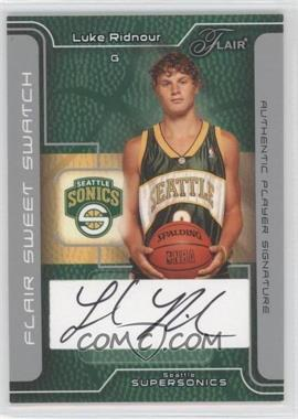 2003-04 Flair Sweet Swatch Autographs [Autographed] #SSA-LR - Luke Ridnour /150