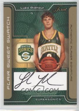 2003-04 Flair Sweet Swatch Gold Autographs [Autographed] #SSA-LR - Luke Ridnour /25