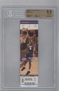 2003-04 Fleer Authentix - Ticket Studs #6 TS - Kobe Bryant [BGS9.5]