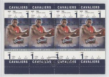2003-04 Fleer Authentix Booster Tickets [???] #104A - Lebron James