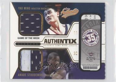 2003-04 Fleer Authentix Jersey Authentix Game of the Week Ripped #YM-AS - Amare Stoudamire, Yao Ming