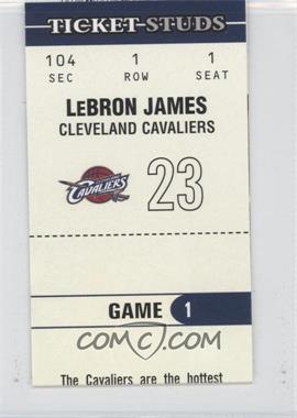 2003-04 Fleer Authentix Ticket Studs #1 TS - Lebron James