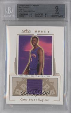 2003-04 Fleer Avant Materials Gold #AGW/CB - Chris Bosh /75 [BGS 9]