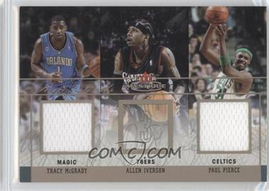 2003-04 Fleer Mystique - Rare Finds - Dual Jersey #RFD-TM/PP - Tracy McGrady, Allen Iverson, Paul Pierce /250