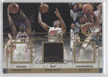 2003-04 Fleer Mystique Rare Finds Parallel 30 Jersey #RF-CB - Richard Hamilton, Caron Butler /30