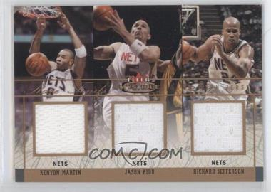 2003-04 Fleer Mystique Rare Finds Triple Jersey #RFT-KM/JK/RJ - Kenyon Martin, Jason Kidd, Richard Jefferson /150