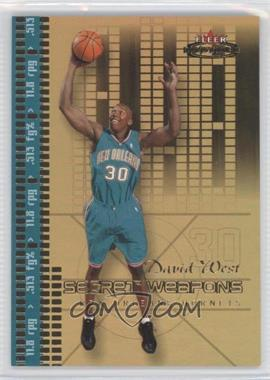 2003-04 Fleer Mystique Secret Weapons Gold #14 SW - David West /30
