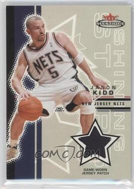 2003-04 Fleer Mystique Shining Stars Patch #SSP-JK - Jason Kidd /75