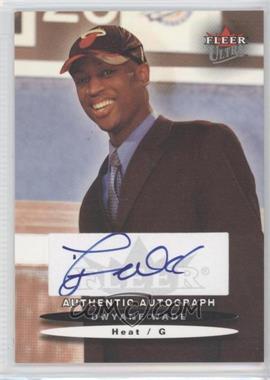 2003-04 Fleer Ultra Autograph [Autographed] #DWWA - Dwyane Wade /250