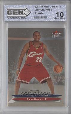 2003-04 Fleer Ultra Hummer H2 Toys [Base] #171.2 - Lebron James (Dark Background) [ENCASED]